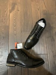 Deer Stags Rhodes Memory Foam Cap Toe Chukka Boots Menand039s Size 10.5 Wide Black