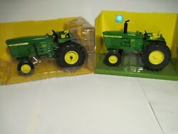 John Deere Farm Toy Tractors 3020 And 4000 Low Profile Editions Ertl 1/16 Nib