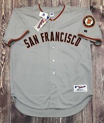 Nwt Vintage Russell Athletics Mlb Sf San Francisco Giants Gray Jersey Size 48