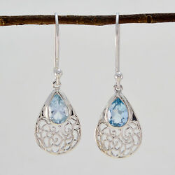 Captivating Blue Topaz 925 Sterling Silver Blue Natural Supplies Us Gift