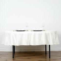 15 Ivory 90 Round Polyester Tablecloths Wedding Catering Restaurant Supplies