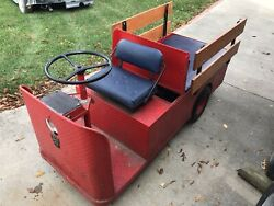 Taylor Dunn C4-32 Industrial 3 Wheel Flatbed Electric Utility Cart