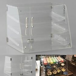 3 Tray Display Case Bakery Counter Rear Door Donut Pastry Cookie Hotel Store