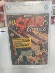 All Star Comics 13 1942 Cbcs 6.5 Ad For Wonder Woman 1, Hitler Appearance