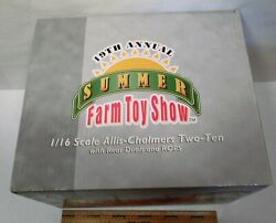 Allis Chalmers Two-ten Tractor Farm Toy Show Stock 16112a