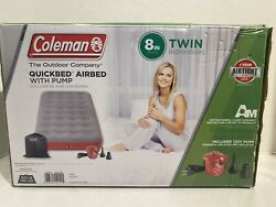 Coleman Quickbed Single High Air Mattress With Pump Twin Gray Airbed Air Bed
