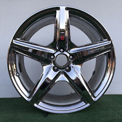 Mercedes Benz Cl63 Cls63 Cls65 S65 Amg 20 Chrome Genuine Factory Oem Rear Wheel