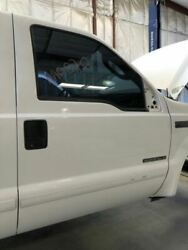 99-07 Ford F250 Super Duty Rh Right Front White Door W Glass And Hinges / Handles
