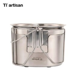 U.s.g.i Military Lunch Box Canteen Cup Army Stainless Steel Cooking Stove 700ml