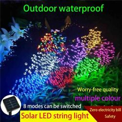 39Ft Outdoor String Lights Patio Party Yard Garden Wedding 100LED Solar Powered $8.83