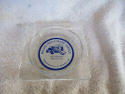 Vntg. Phillips Feed And Grain Service Adv. Glass Ashtray/germansville And Emmaus, Pa