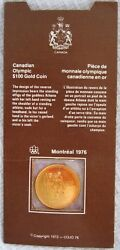 1976 Montreal Olympic 1/4 Oz 100 Gold Coin With All Original Packaging
