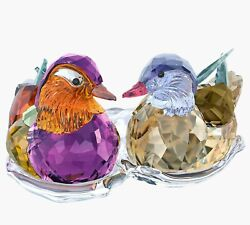 Mandarin Ducks With Stand Crystal Figurines 5265586 New In Box