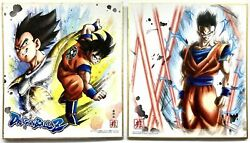 Dragon Ball Shikishi Art Illustration Card 2 Set B Bandai 2018 Used Japan