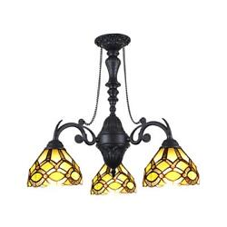 Lighting Georgia -style Victorian Stained Glass Mini Chandelier...