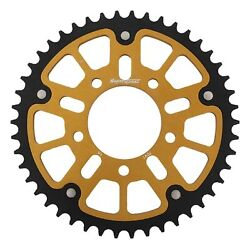 New Supersprox Stealth Sprocket, 46t For Marvic 520 Pitch 5 Bolts 00, Gold