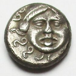 Attractive Thrace-apollonia Pontica Silver Drachmeafter450b.c 3.25g/14mmraretype