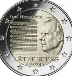 Luxembourg 🇱🇺 Coin 2€ Euro 2013 Commemorative National Anthem Hymn New Unc