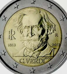 Italy 🇮🇹 Coin 2andeuro Euro 2013 Commemorative Giuseppe Verdi New Unc From Roll
