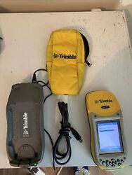 Trimble Geoxh 2005 60950-00 Bundle W/ Case, Cradle And Charger. Tested Working