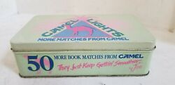 Vintage 1992 Camel Lights Cigarette 50 Match Book With Tin Can Case - Free Ship