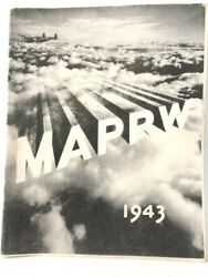 1943 Ww2 9th Us Army Air Corps Mediterranean Photo Recon History Yearbook Africa