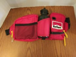 Vintage Marlboro Gear Waist Fanny Pack Hiking Bag With Water Bottle Never Used