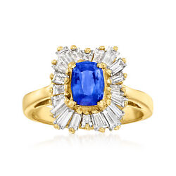 Vintage Sapphire And Diamond Ring In 14kt Gold Size 7