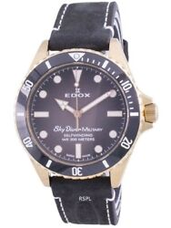 Edox Skydiver Military Limited Edition 80115brznndr 80115 Brzn Ndr Menand039s Watch