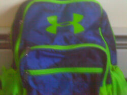 Under Armour Unisex Backpack Limeamp;Navy NEW $14.99