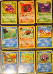 Pokemon Cards Fossil Near Complete Set First Edition 52 Cards