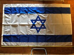 1984 Los Angeles Olympic Games Official Israeli Israel Large 8ft Ceremonial Flag