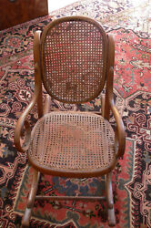 Antique J And J Kohn Child's Bentwood Caned Rocking Chair Local Pick-up