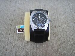 Relic Mens Wide Leather Band Watch New Nos Nixon Lot Fossil Zr15402 Duke Cuff