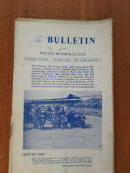 The Official Journal The Vintage Motorcycle Club Magazine 1953 Through To 1968