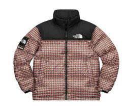 Nwt Supreme The Studded Nuptse Jacket Red Medium In Hand