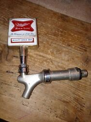 Vintage Miller High Life Beer Tap Handle With Spout