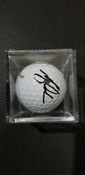 Tiger Woods Autographed Signed Early Career Titleist Golf Ball With Case And Coa