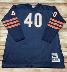 Mitchell Ness Chicago Bears Rare 1965 Rookie Gale Sayers Jersey Long Blue Nfl 60