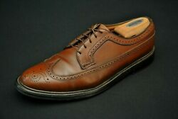 Florsheim Imperial Brown Leather Shoes 10 3 E Extra Wide Eee Lwb Wingtips