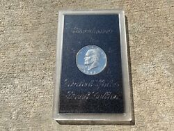 1972-s Eisenhower Silver Dollar - Uncirculated Proof - U.s. Mint Issue
