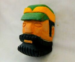 1940's Hand Carved And Painted Paul Bunyan Bsa Boy Scout Neckerchief Tie Slide