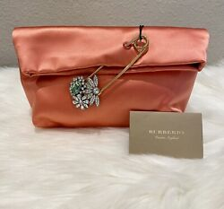 NEW Authentic Burberry Satin Silk Pin Embellished Small Clutch Retail $1270🌸 $529.20