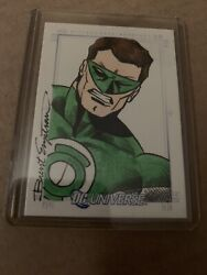 Rittenhouse Sketchafex Brent Engstrom Green Latern Sketch 1/1 Dc Universe