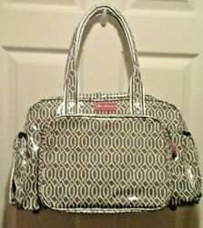 NEW LOU HARVEY GRAY CROSSBODY DIAPER BAG XL SEE PICTURE#x27;S $38.00