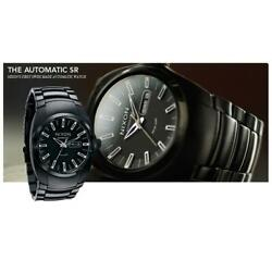 Nixon A006-001 The Automatic Men's Round Black Day Date Stainless Steel Watch