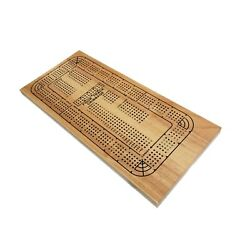 We Games Classic Wooden Cribbage Board Game With 4 Lanes / Four Track And Pla...