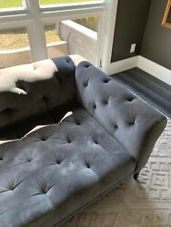 Rh Italia Chesterfield Sofa With Tufted Seat And Metal Base In Burnished Bronze