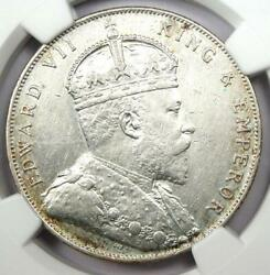1908 Straits Settlements Dollar 1 - Certified Ngc Au Detail - Rare Coin