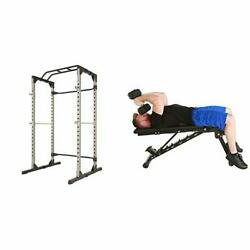 Fitness Reality Multi-function Adjustable Squat Rack With 2000 Xl Andldquono Gapandrdquo Weig